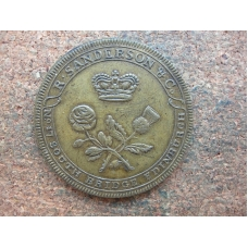 Scotland,Lothian,Edinburgh ,halfpenny,R.Sanderson & Co