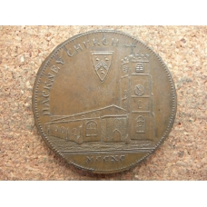 Middlesex Hackney Church Halfpenny 1795