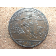 Worcestershire Netherton Withymoor Scythe Works Penny James Griffin 1813